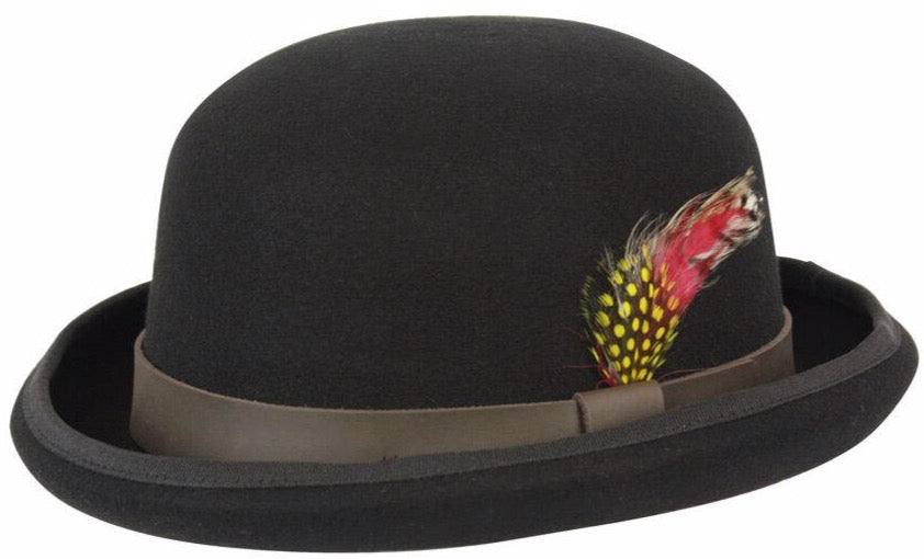 Wool Bowler Derby Hat