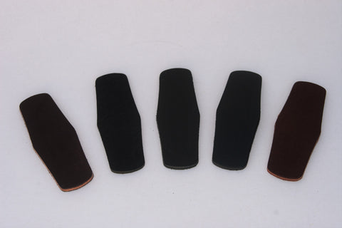 leather barrette blanks
