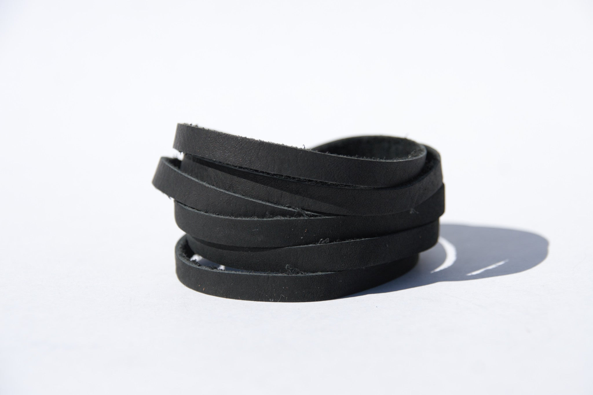 Multi Strip Leather Bracelet