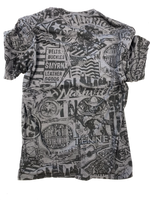 "Buckle and Hide ""All Over"" T-Shirt - Vintage Gray"