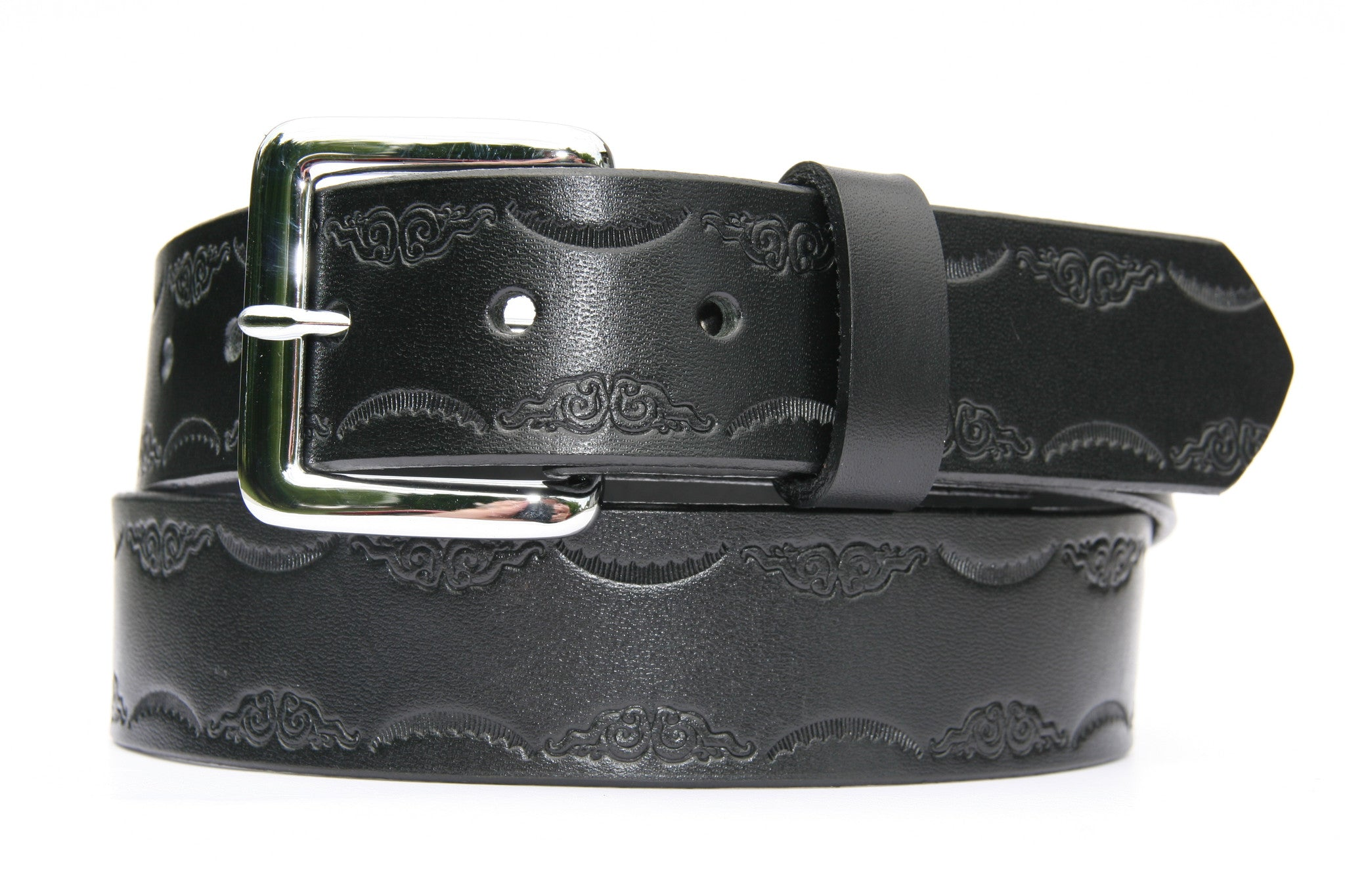 Decorative scroll edge belt