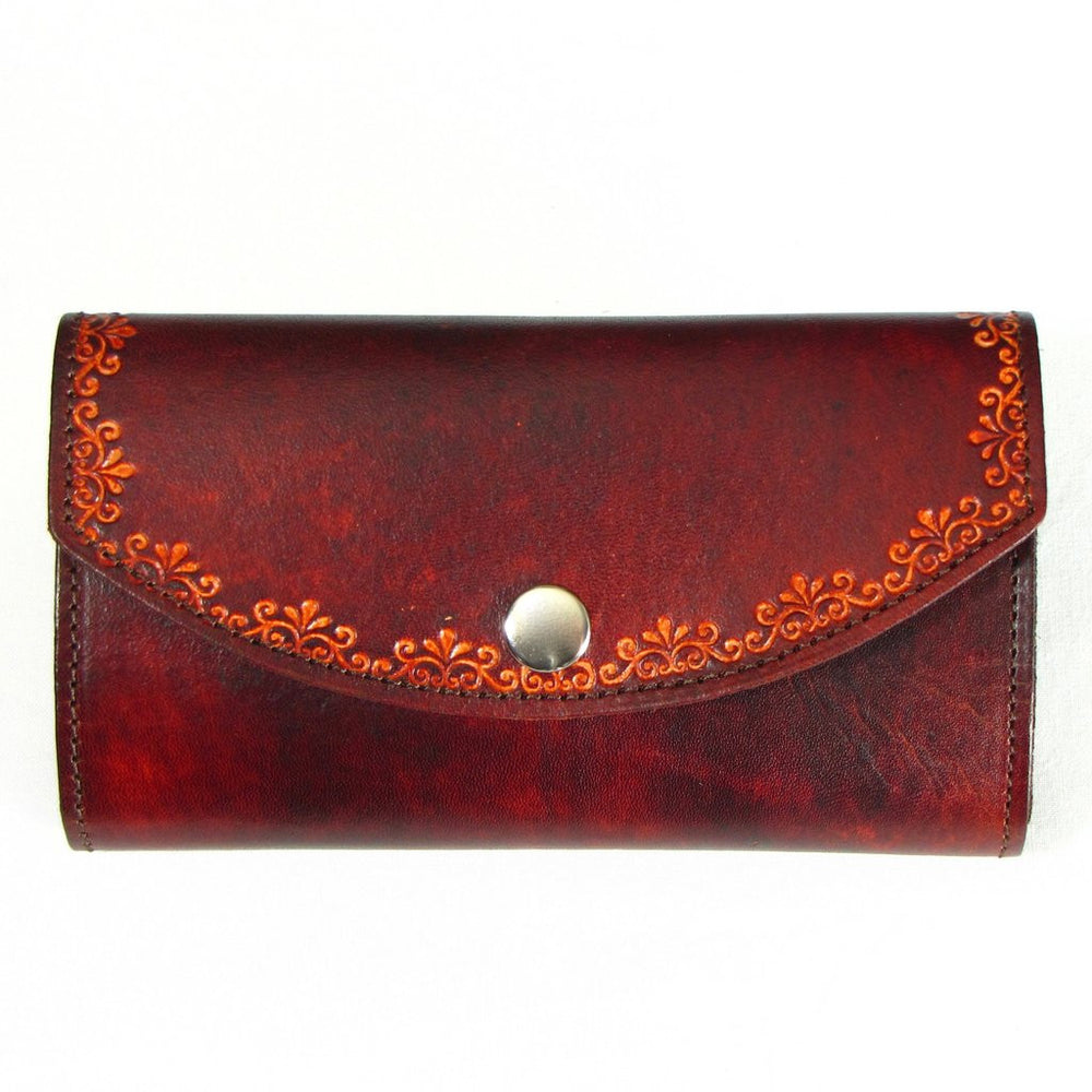 Embossed Leather Ladies Clutch  Wallet