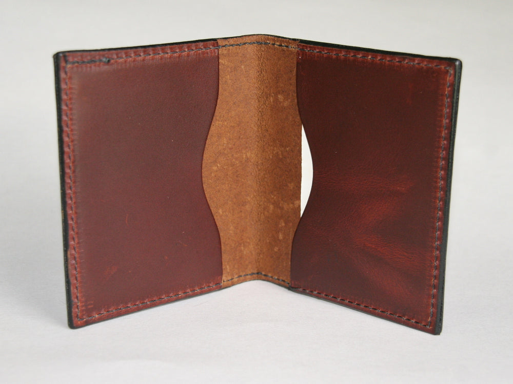 Folding card wallet inside