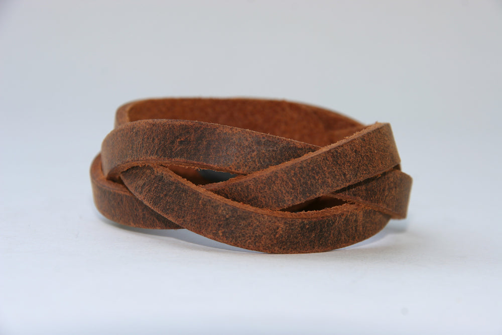 Leather Cuff-Mystery Braid