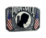 POW MIA Flag Belt Buckle