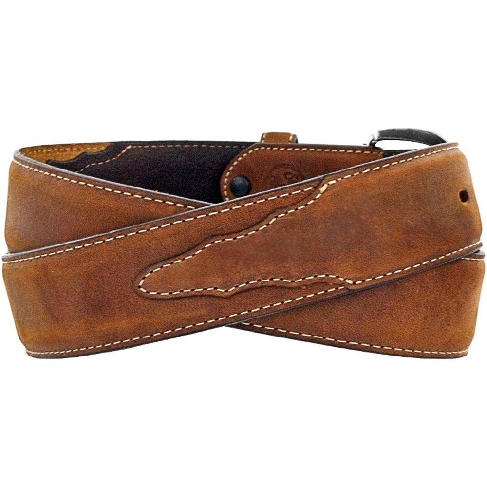 Classic Distressed Western Belt by Justin