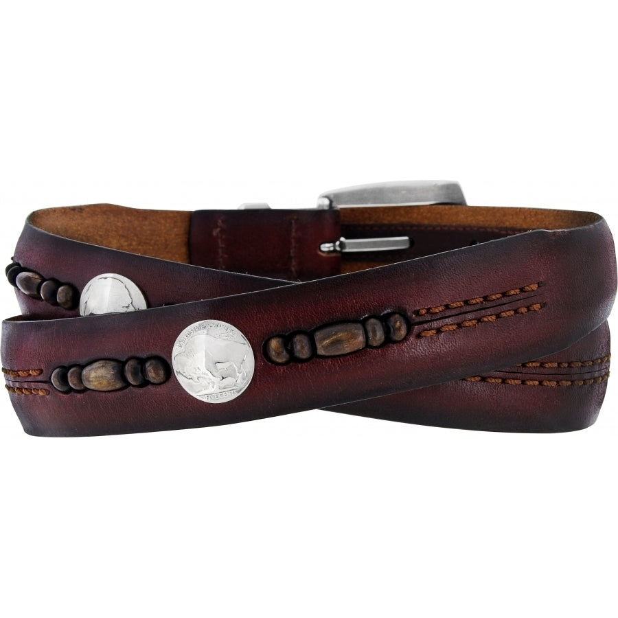 Zambia Bead & Coin Belt Leather Belt by Onyx