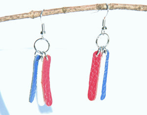 Red, White, and Blue Stripes Earrings