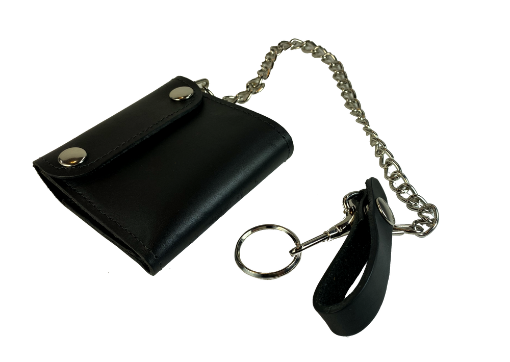 USA made Bi Fold Chain Wallet