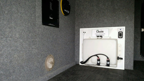"EZ-Chem ""Dual Tank"" Chemical Additive System - Your RV Sewer Hose Storage Solution Experts"