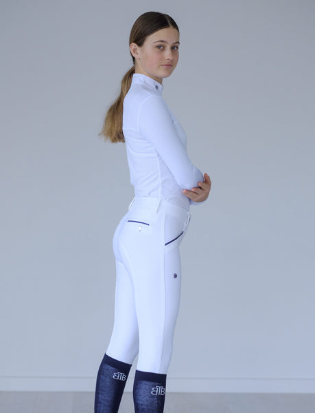 'ALYSSA' WHITE COMPETITION BREECH
