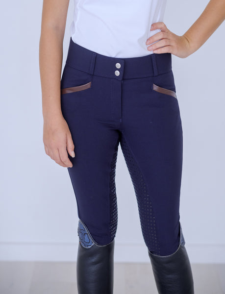 'ANNA' HIGH WAIST DARK NAVY BAMBOO