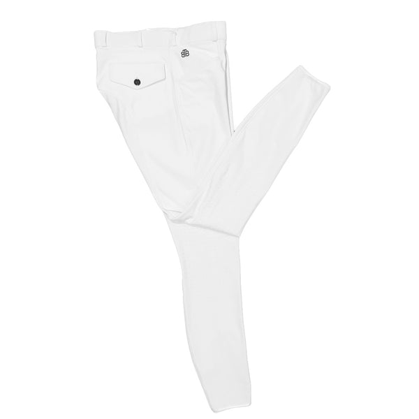 MEN'S WHITE POLYAMIDE COMPETITION BREECH