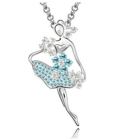Crystal ballerina pendant bling me on crystal ballerina pendant mozeypictures Image collections