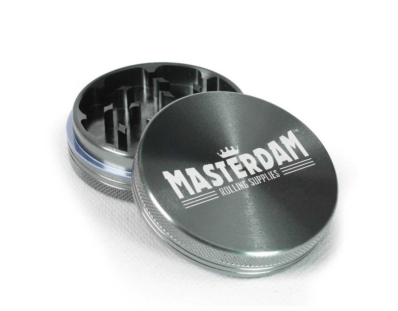 "2-Piece Grey Grinder 63mm Large (2.5"")"