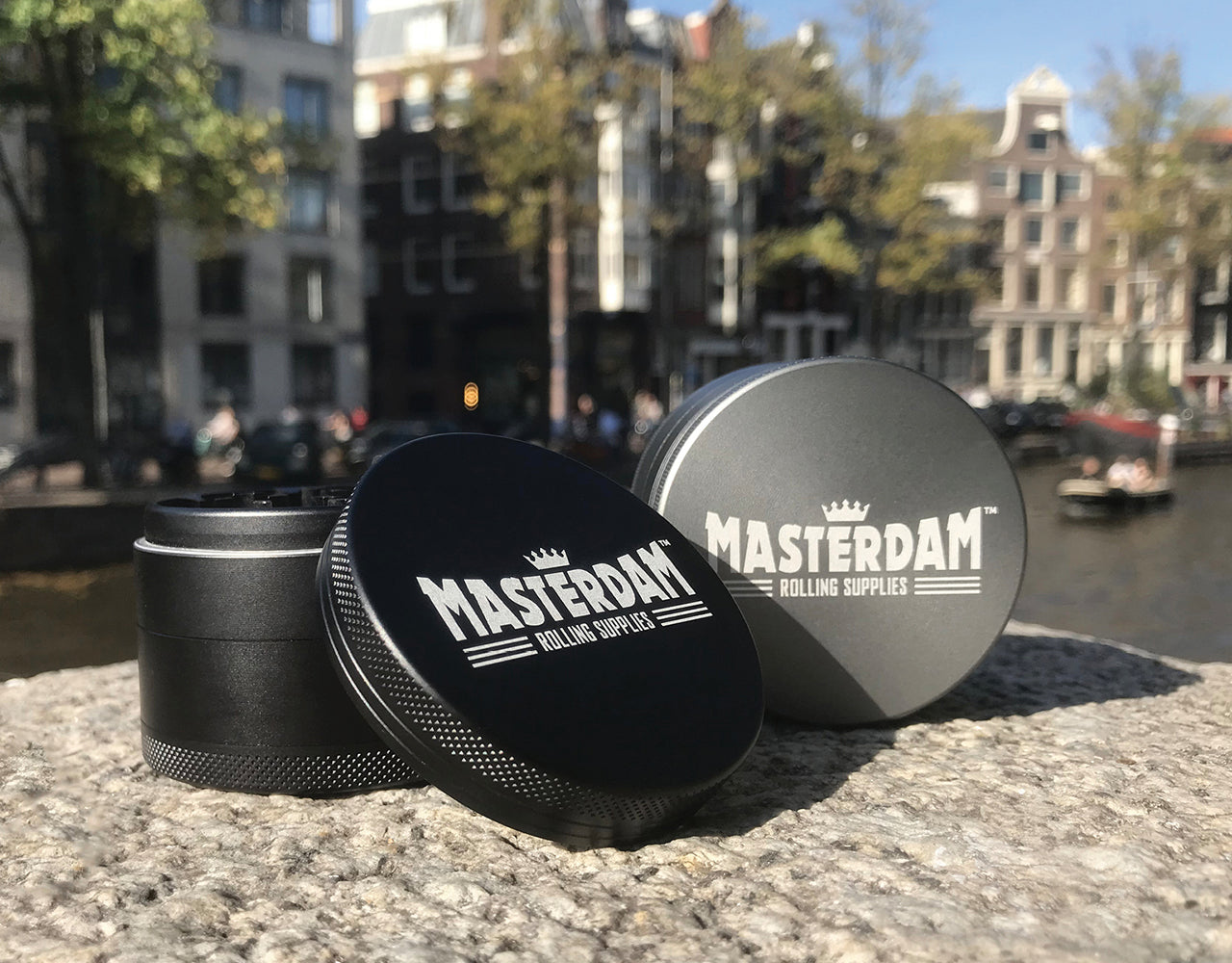 "4-Piece Matte Black Grinder 63mm Large (2.5"")"