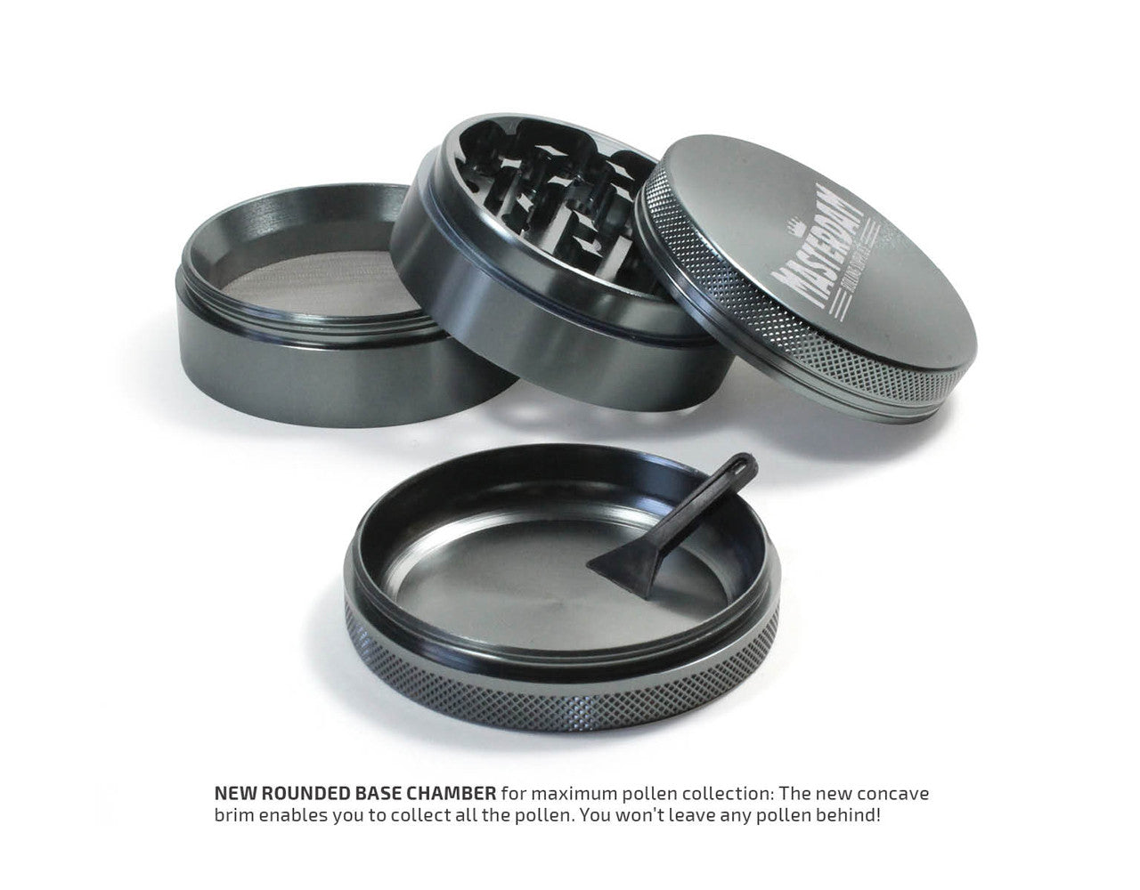 "4-Piece Gunmetal Grinder 63mm Large (2.5"")"