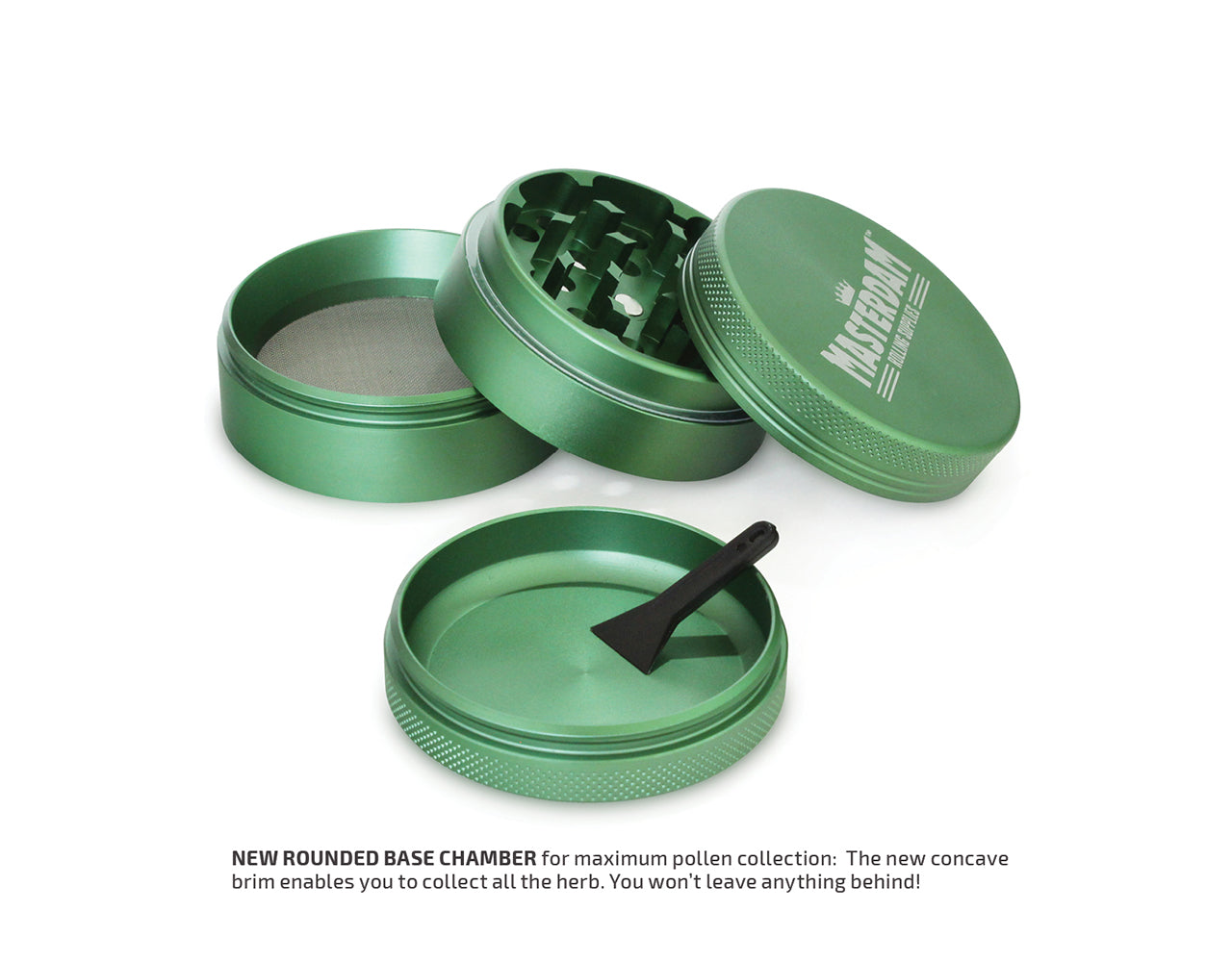 "4-Piece Matte Green Grinder 55mm Standard (2.2"")"