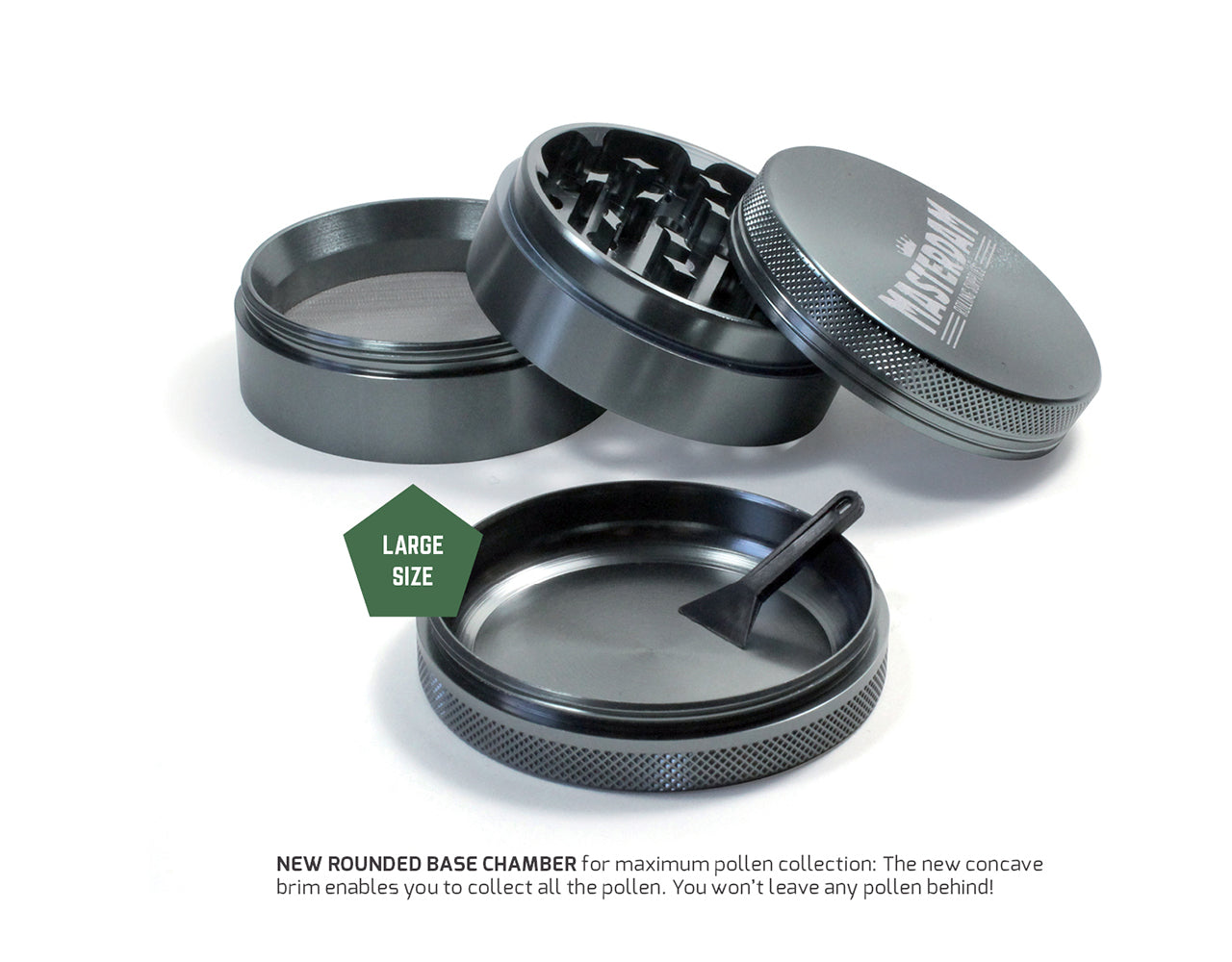 Bundle Large Grinder & 250ml Jar, Gunmetal