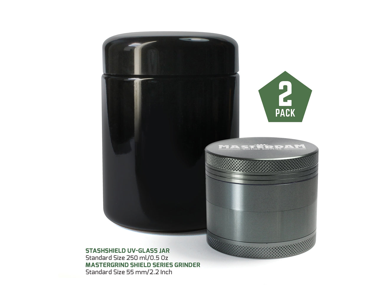 Bundle Standard Grinder & 250ml Jar, Gunmetal
