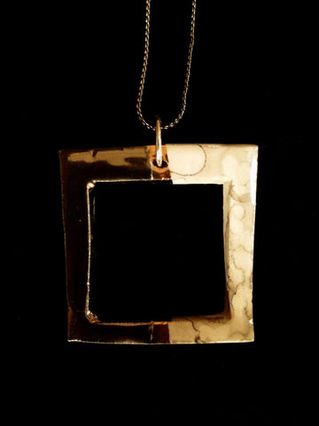 Necklace Square 22kt Yellow & White Gold