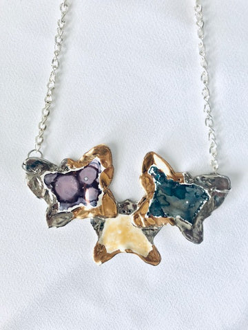 Necklace - Butterflies - Multi Colors