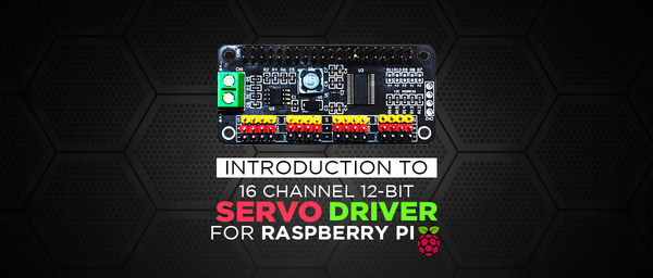 16 Channel Servo Driver HAT for Raspberry Pi - SB Components