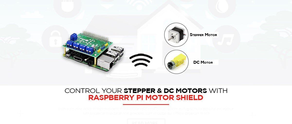 Control Your Stepper & DC Motors with Raspberry Pi Motor Shield
