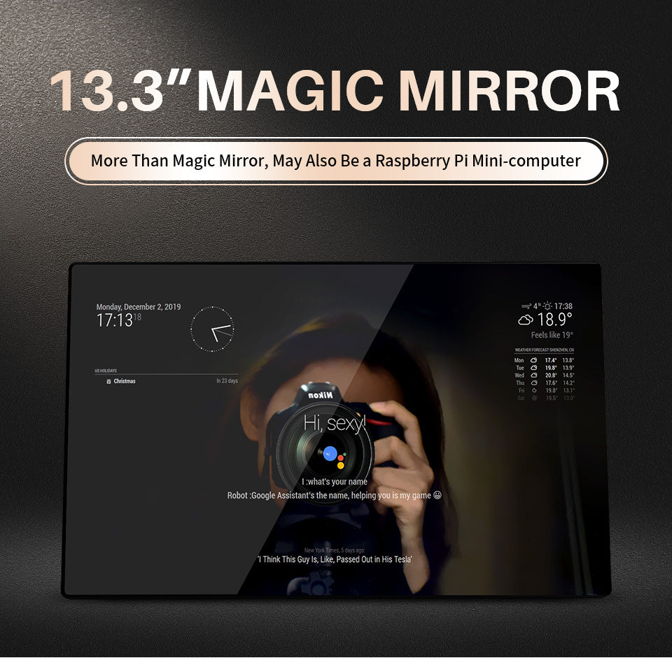 Magic Mirror, Voice Assistant, Touch Control