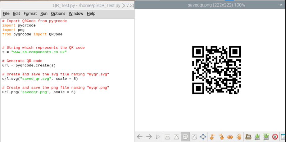 Generate QR code on Python with PYQRcode Module