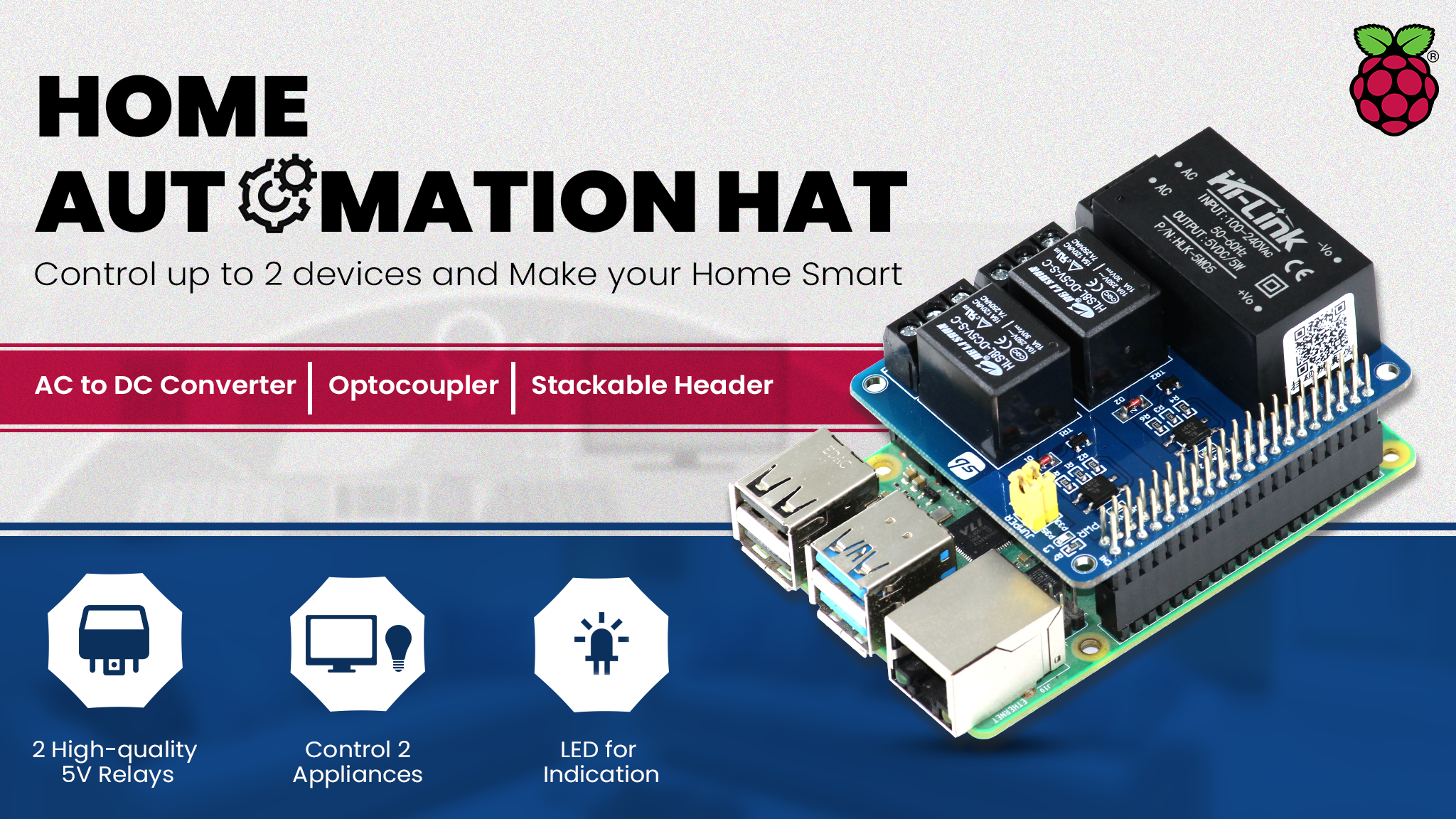 Home Automation HAt For Raspberry Pi