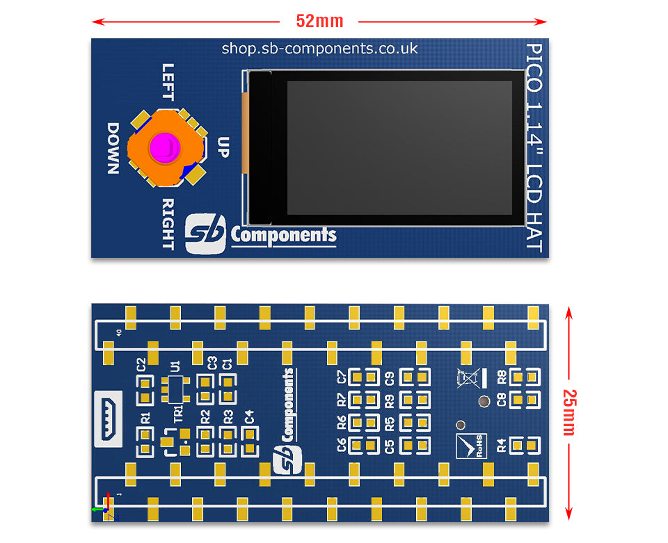 """1.14"""" LCD HAT For Pico"""