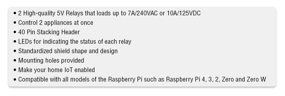 relay for Pi Zero