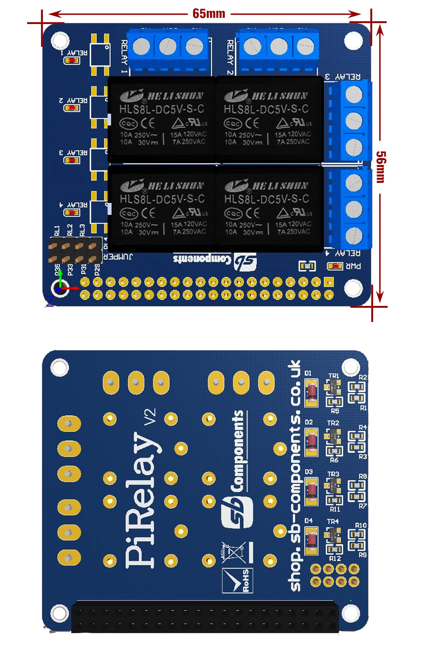 Pi Relay Hardware