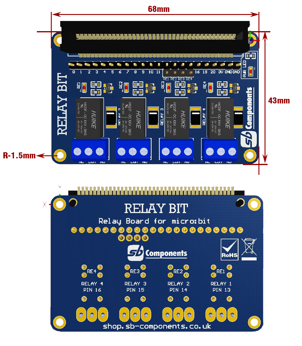 Relay Board for micro:bit