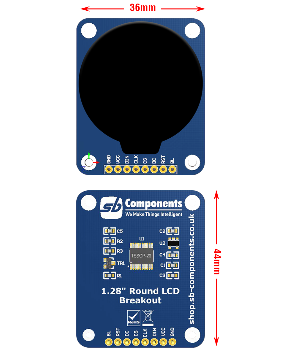 Round LCD Breakout specification