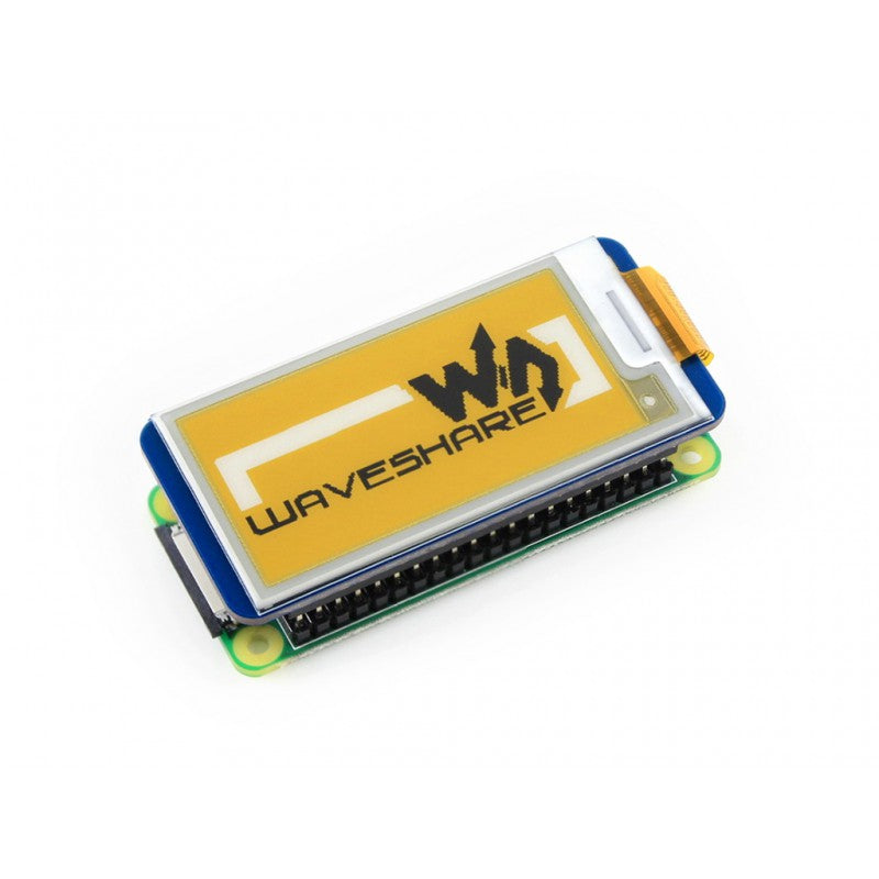 2.13inch 212x104 Resolution E-Ink Display HAT for Raspberry Pi (Yellow/Black/White Color)