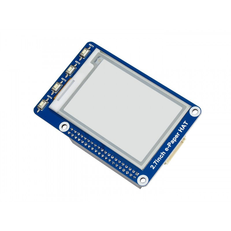 2.7inch e-Paper 264x176 Resolution E-Ink Display HAT for Raspberry Pi (Black/White Color)