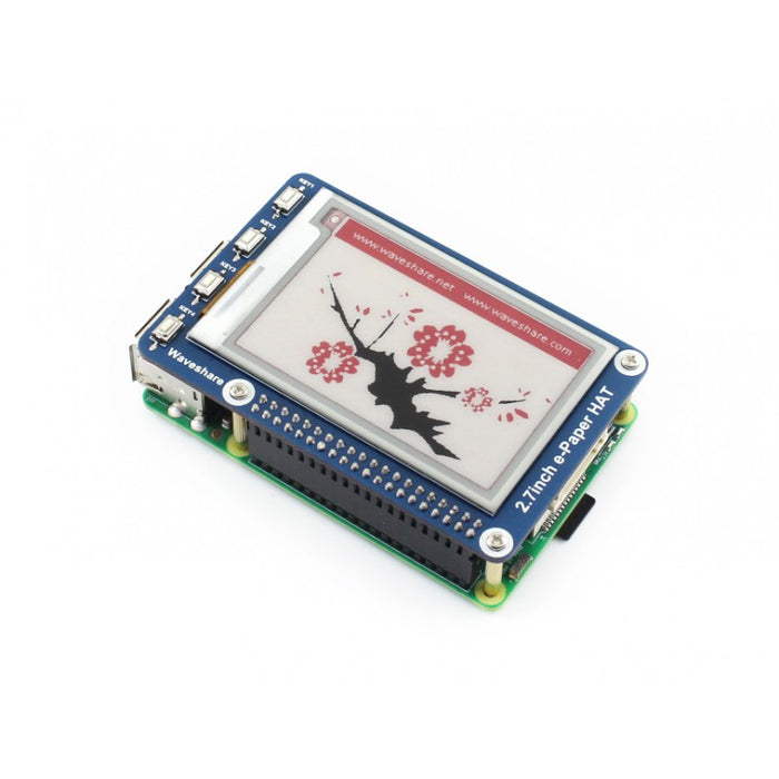 "2.7"" e-Paper HAT (B), E-Ink display HAT for Raspberry Pi"