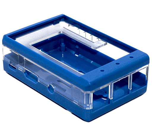 "Protective Blue Case for Raspberry Pi 2, 3, 3B+ and 3.2"" LCD"