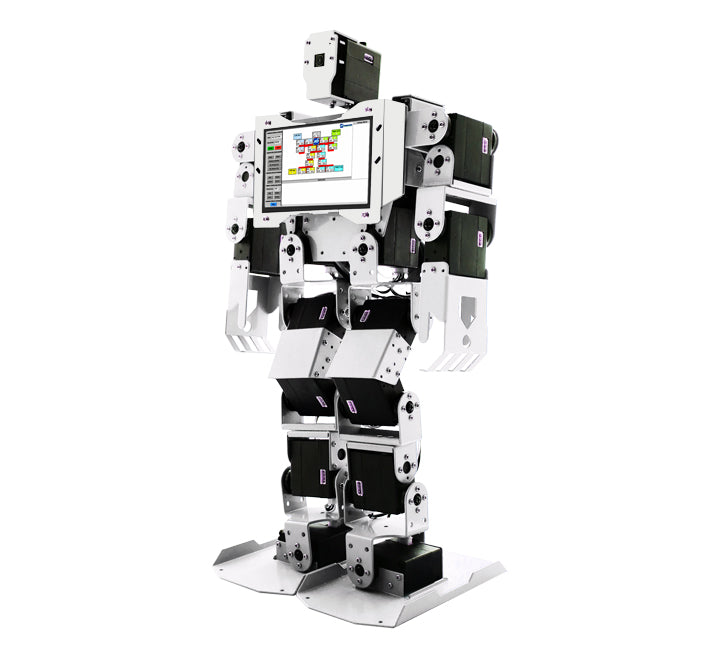 PiMecha - 17 DoF Humanoid Robot with LCD and Camera (Assembled)