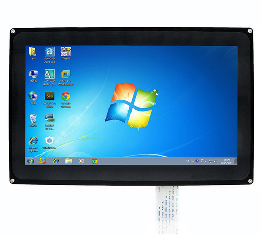 "10.1"" HDMI LCD (1024x600), IPS, Capacitive Touch Screen LCD with Case"