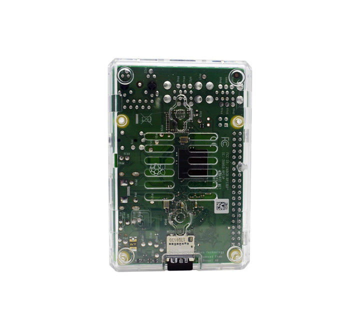 Raspberry Pi 2, 3, 3B+ Open Case, Clear