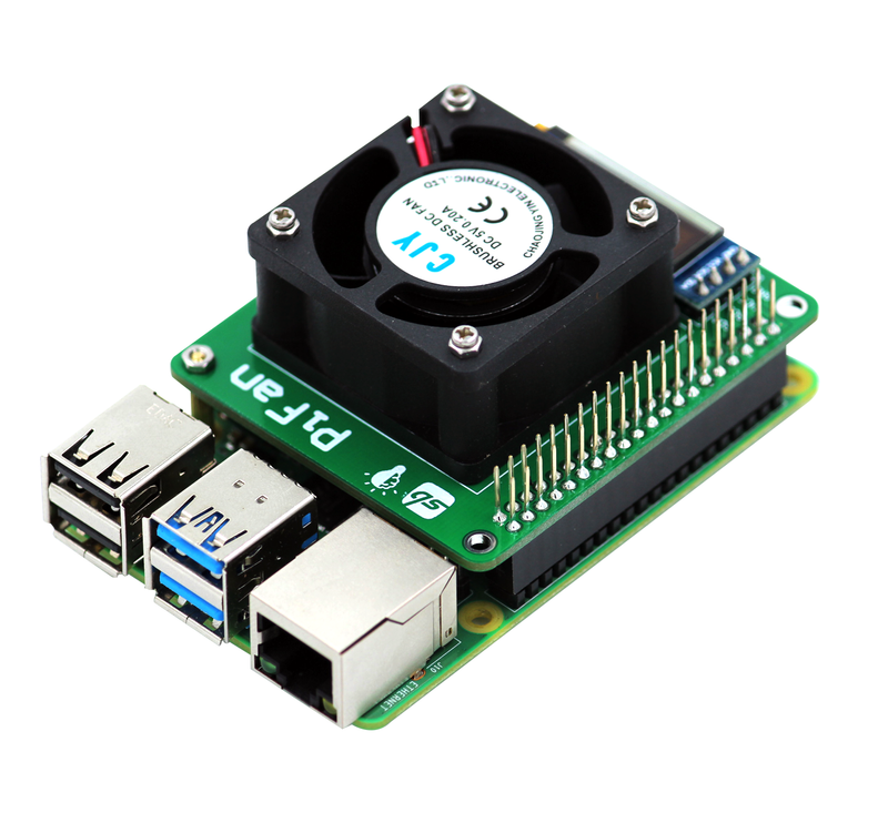 "PiFan: Raspberry Pi Cooling Fan with 0.91"" OLED Display"