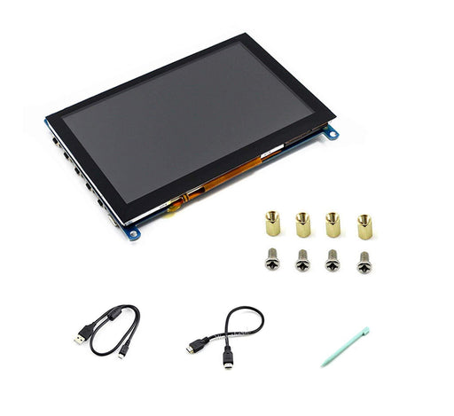 "5"" HDMI LCD (H) (800x480), Capacitive Touch Screen LCD"