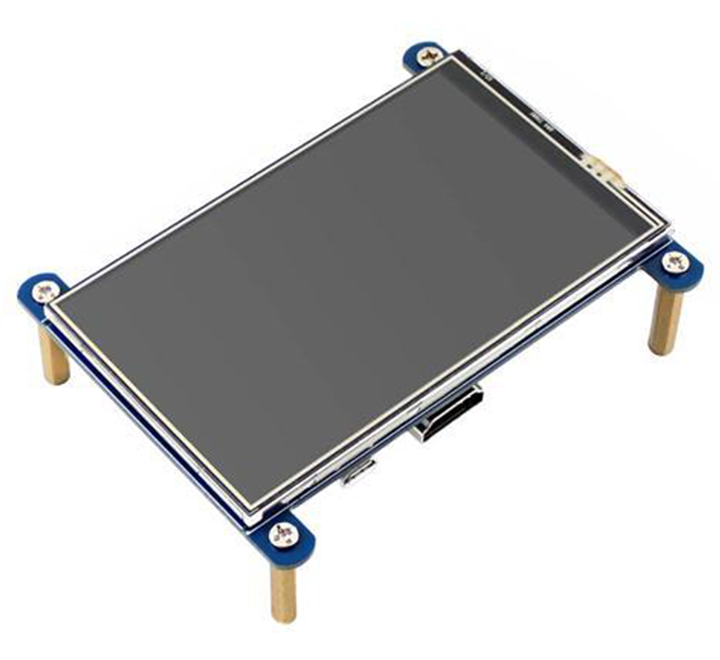 "4"" HDMI LCD (800×480), IPS, Resistive Touch Screen LCD"