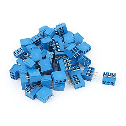Screw Terminal Block 3-Pin, 5 mm (Blue)