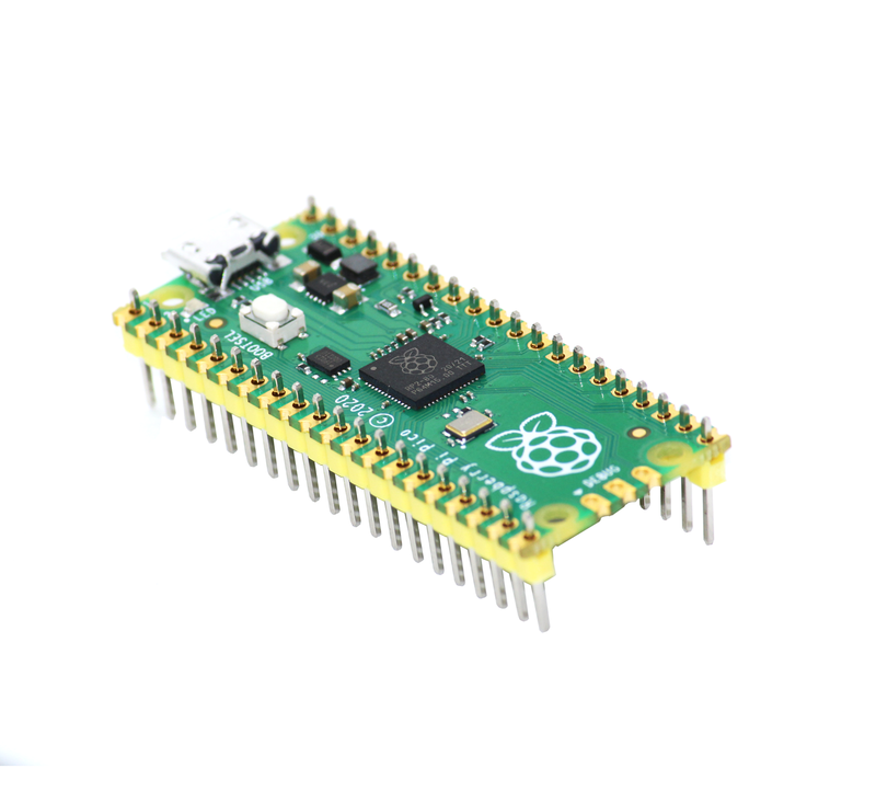 Raspberry Pi Pico Board With Soldered Header