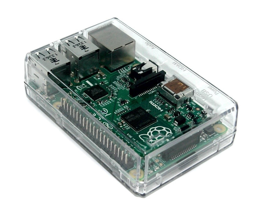 Raspberry Pi 2, 3, 3B+ Closed Case, Clear