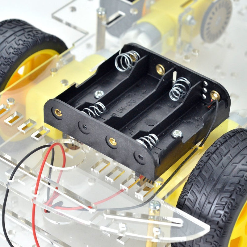 4-Wheel Robot Smart Car Chassis Kits with Speed Encoder for Raspberry Pi and Arduino